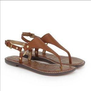 Sam Edelman Greta Thong Sandals Saddle Size 7 Tan